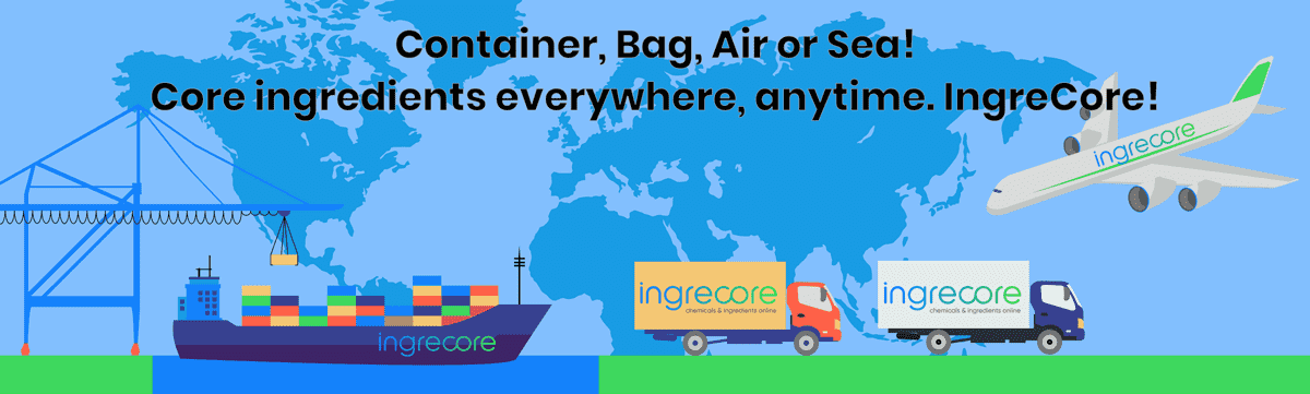 Container, Bag, Air or Sea! Core ingredients everywhere, anytime. IngreCore!